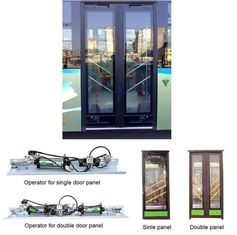 China Single And Double Leaf  Pneumatic Bus Door Systems With Sensitive Edge supplier