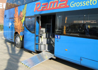 China Manual Bus Lightweight Wheelchair Ramp , Removable Wheelchair Ramp TS16949 Certificate supplier