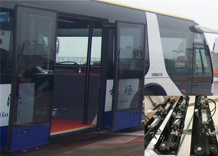 Outswing Pneumatic Bus Door Mechanism Drivng With Gear And Cylinder  For Airport Bus