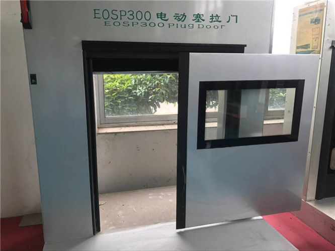 Double / Single Panel Sliding Plug Door Inside / Outside Sealing For Pure Electric Bus