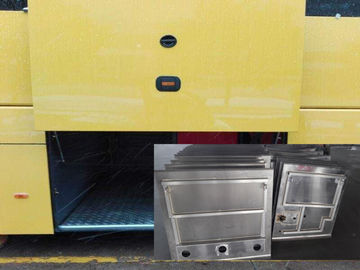 Aluminum / Steel Panel Bus Luggage Door , Manual / Pneuamtic Bus Door Mechanism