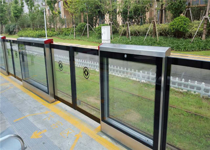 PF400 Bus Platform Screen Door System Passenger Protection RFID Connected
